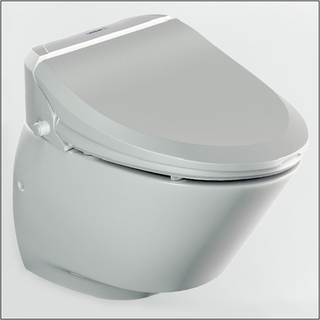 NIC7000: A combined electronic bidet seat and wall hung toilet