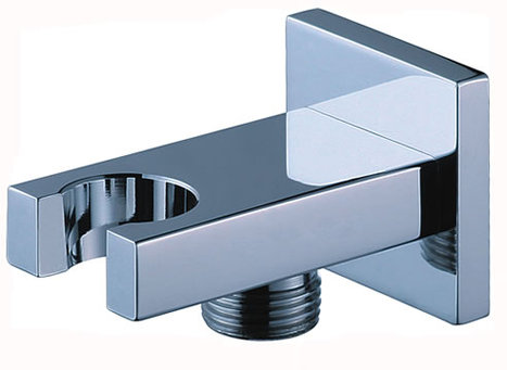 WPL1000: Square wall plate elbow with integral shower mount