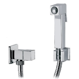 BRA5500 Italian crafted square bidet shower and valve  in mirror chrome