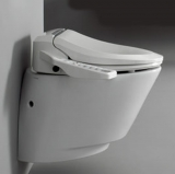 NIC6000: Electronic bidet seat and wall hung toilet combination
